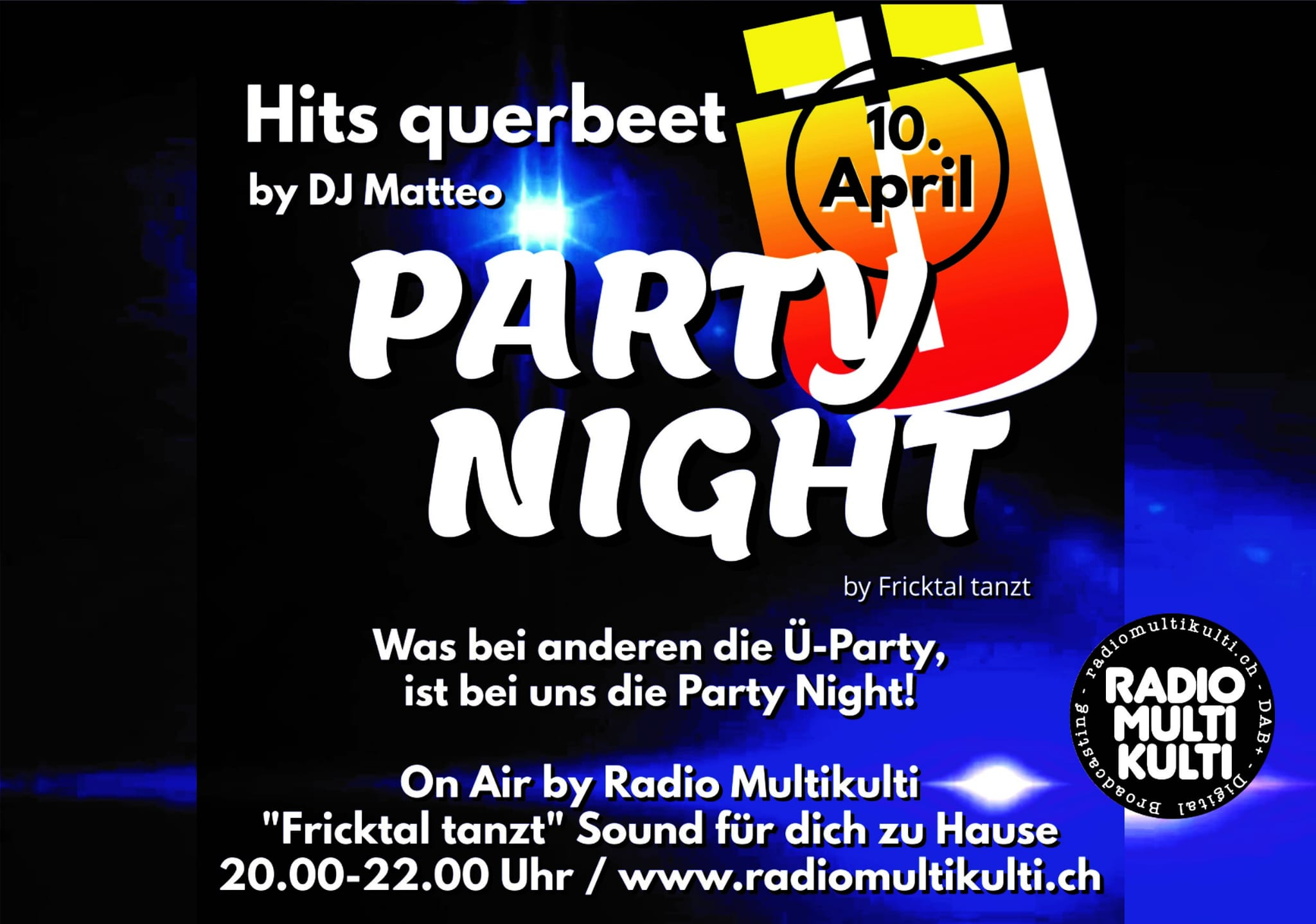 Party Night by Fricktal tanzt On-Air auf Radio MultiKulti DAB+